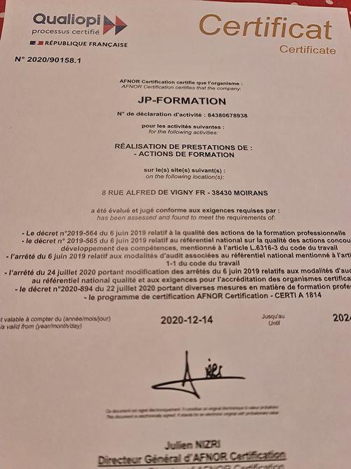 Certification Référentiel Qualité QUALIOPI